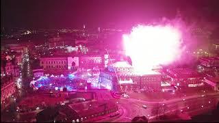 Luftbilder by HPTV vom Feuerwerk beim Semperoperball am 01.02.2019 in Dresden