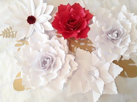 DIY Large Paper Flower Tutorial /October  Flower Series #3