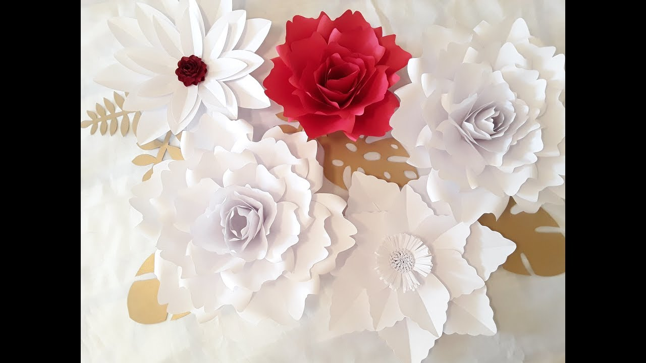 Diy large paper flower tutorial october flower series 3 youtube diy large paper flower tutorial october flower series 3 mightylinksfo