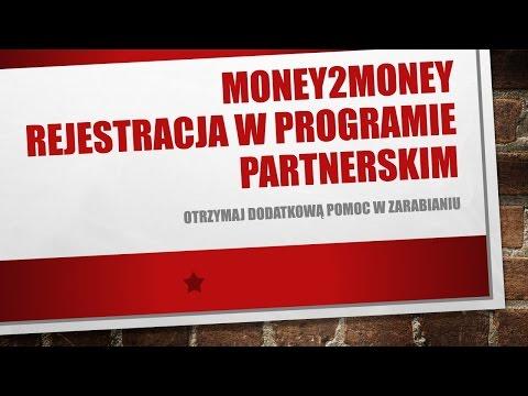 Money2Money Rejestracja W Programie Partnerskim