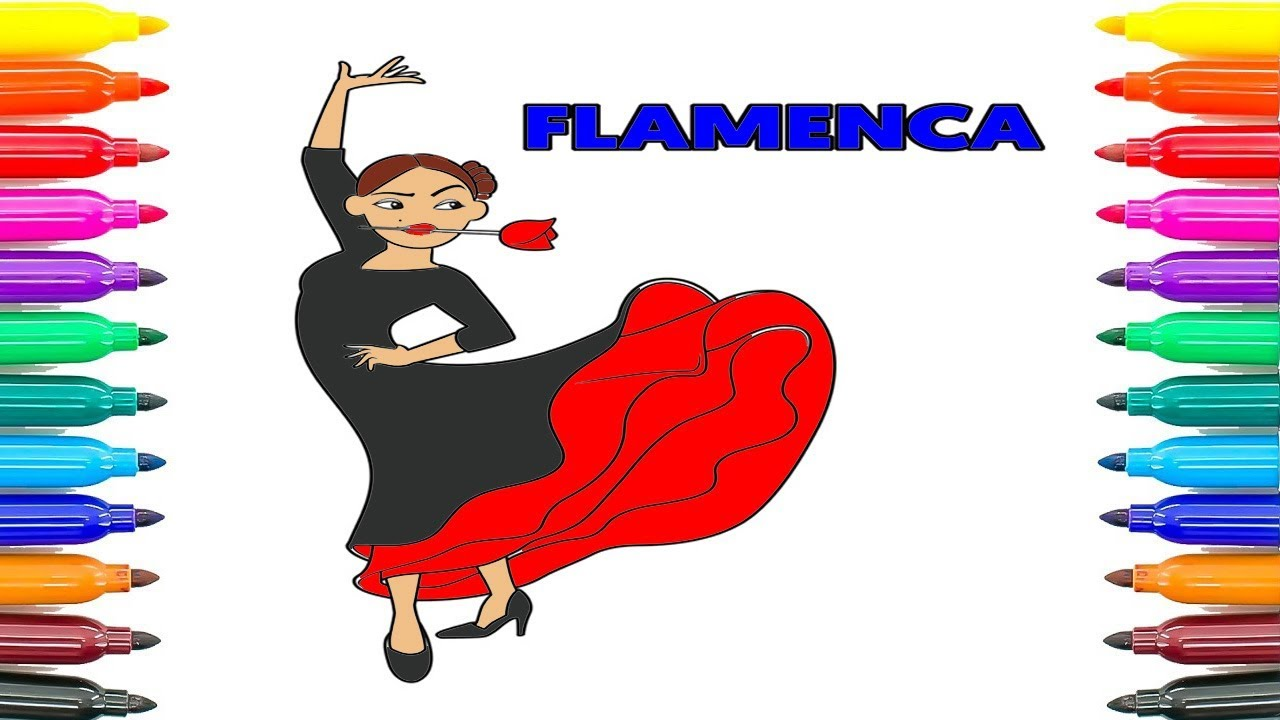 How To Draw Flamenca Emoji Movie 2017 Coloring Book For