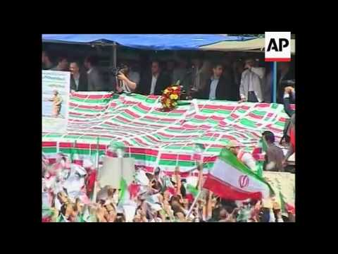 As Friday's presidential election in Iran approaches the main candidates there tried to rally their
