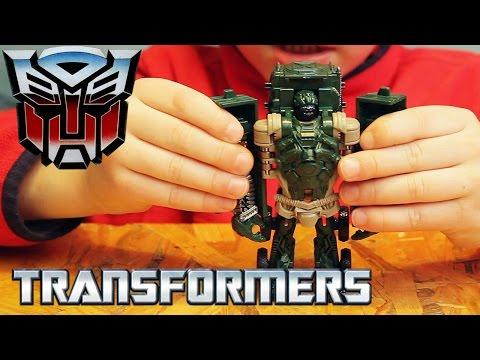 Игрушки Трансформеры. Автобот Хаунд - одним движением. Transformers Age Of Extinction Autobot Hound