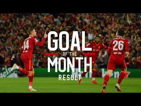 Liverpool's September Goal of the Month result | Salah, Henderson & Naby Keita