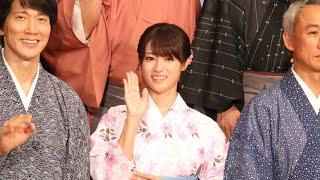 女優の深田恭子さんが3日、東京都内で行われた映画「超高速!参勤交代 ...