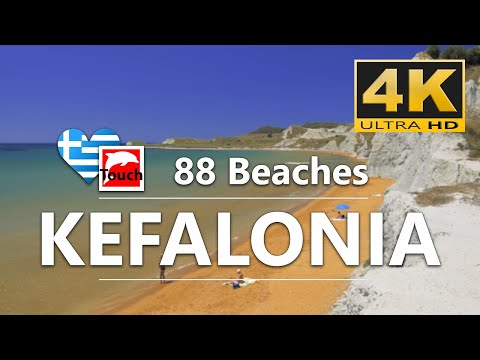 88 Charming Beaches of Kefalonia Island, Greece - 38 min., 4K