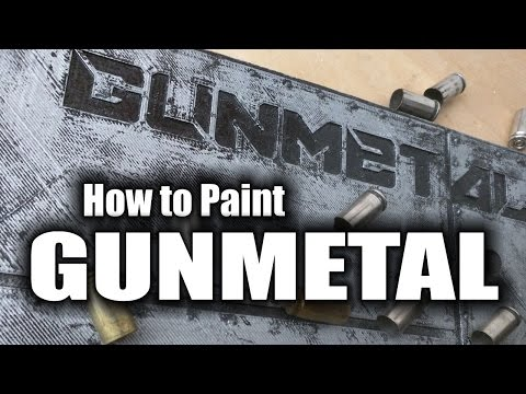 How to Paint Gunmetal Effect - HD