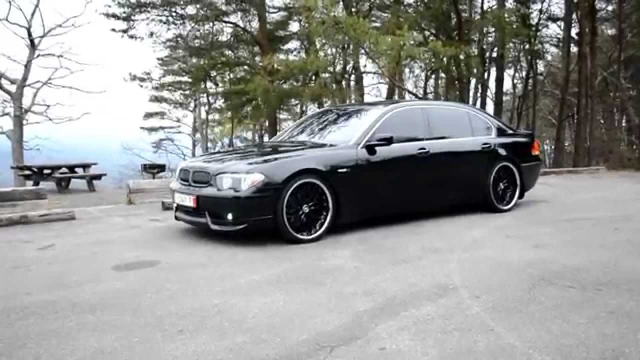 2003 745 bmw li acs kit h r lowered 22 mrr gt1 wheels for sale youtube