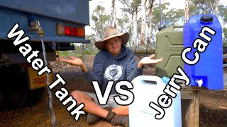 Water Tank Vs Jerry Cans   Off-road 4x4 Camping