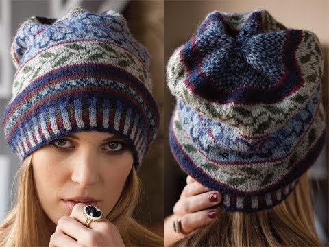 6 Fair Isle Hat, Vogue Knitting Fall 2010 - YouTube