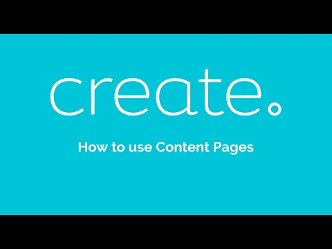 How to use Content Pages | Create.net