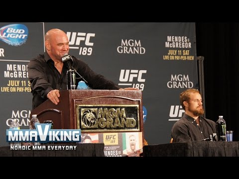 Gunnar Nelson is Hilarious (and Dana Loves It) at UFC 189 Presser