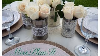 Diy: Beautiful Vintage Wedding Centerpieces Using Canned Goods 'set The Table'-part 2