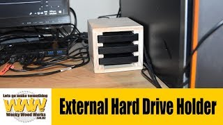 How to make a simple hard drive holder - Off the Cuff - Wacky Wood Works.
