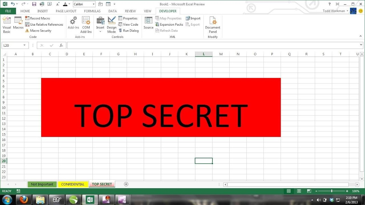 Excel Tips Tutorial How To Hide And Unhide Worksheets