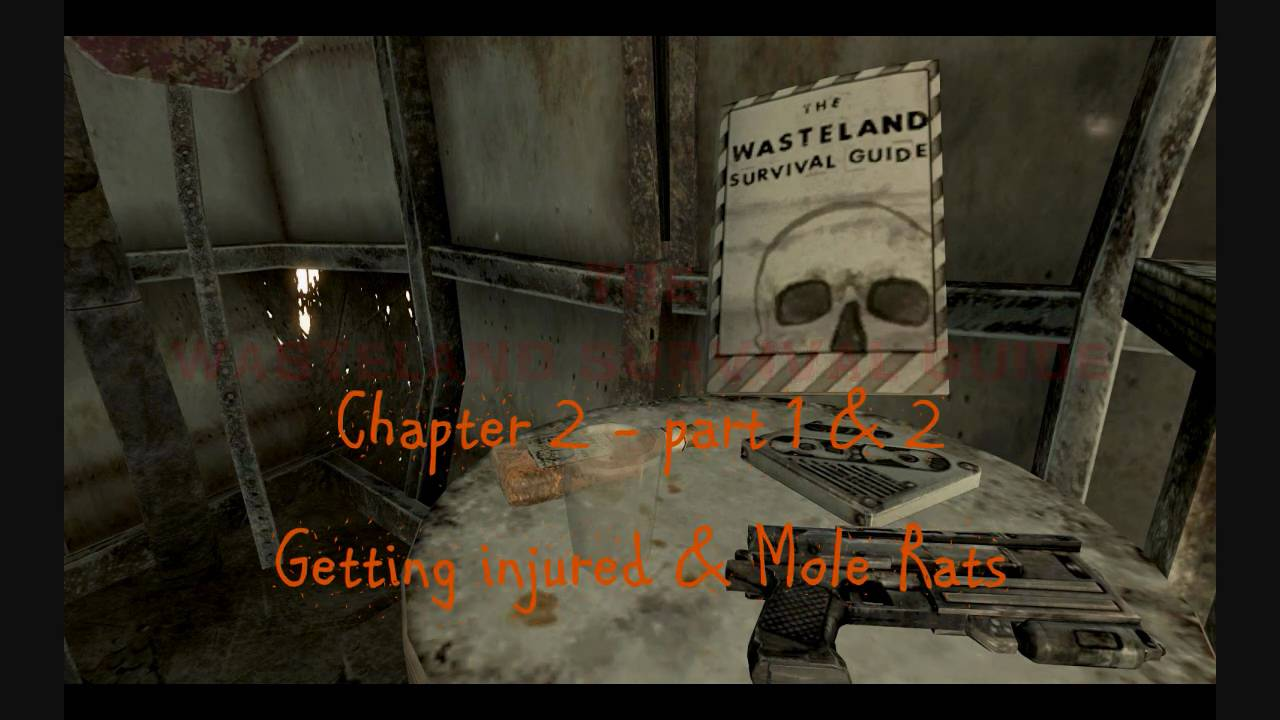 fallout 3 wasteland survival guide c2p1 2 getting injured mole