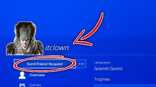"Do NOT Add ""PENNYWISE"" Account as a Friend on PS4! (IT CLOWN)"