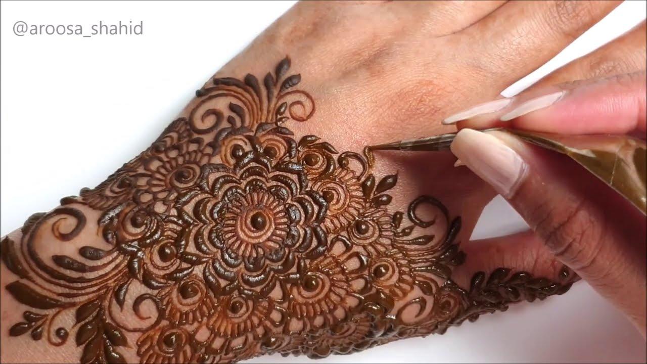 Simple stylish Arabic Mehendi design | Wedding Henna 2020