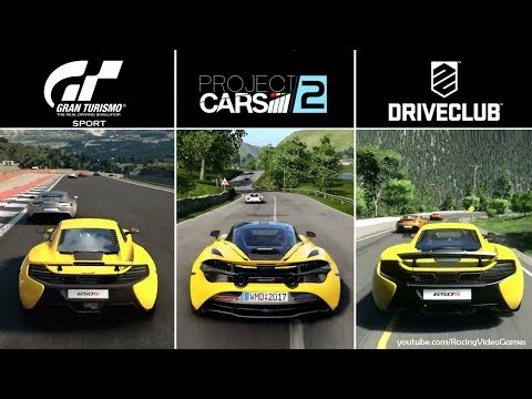 Gran Turismo Sport vs. Project CARS 2 vs. DriveClub | ''Time of Day'' Graphics Comparison PS4
