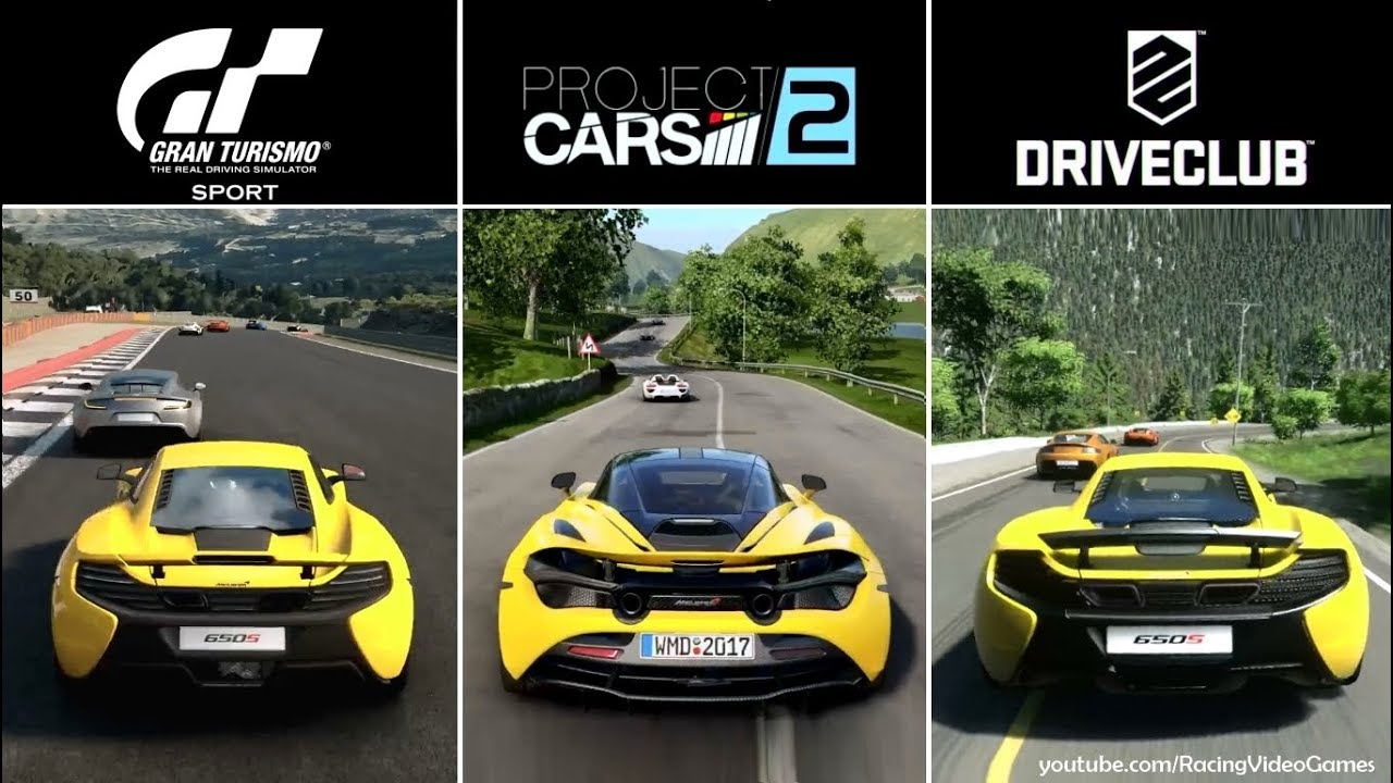 Gran Turismo Sport Vs Project Cars 2 Vs Driveclub Time Of Day Graphics Comparison Ps4 Youtube