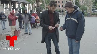 Diego Street Magic | Diego Solves A Rubik's Cube With Magic | Telemundo English