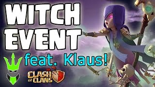 WITCH EVENT Feat. KLAUS GAMING - WITCH SLAP OP - Clash of Clans - TH9 & TH10 EVENT CHALLENGE