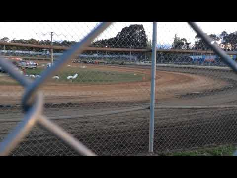 Brian Mathieson crash Latrobe Speedway October 201