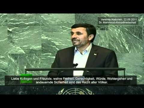 Mahmud Ahmadinedschad UN [deutscher Untertitel, komplett]