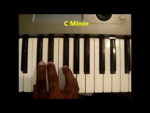 How To Play The C Minor Chord Cm C Min On Piano Keyboard Youtube