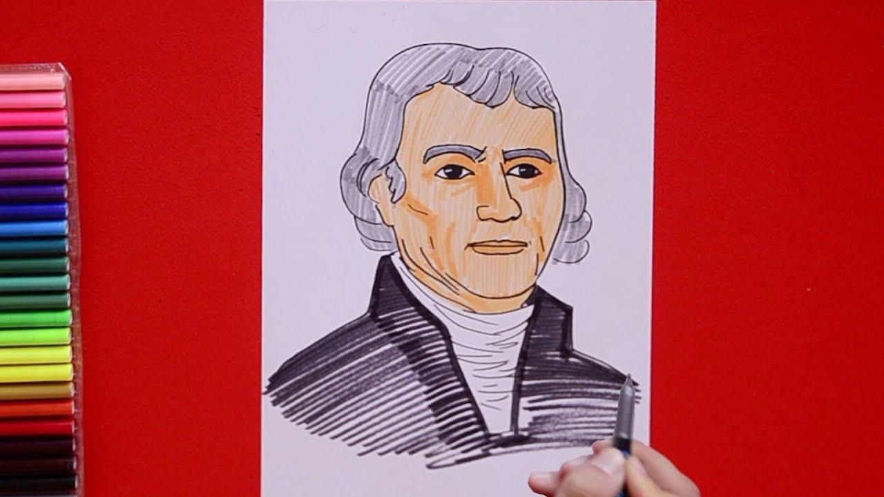 How To Draw Thomas Jefferson Founding