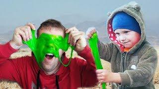 Малыш и Сонный папа играют в Слайм в лицо. Зачем малыш это придумал?