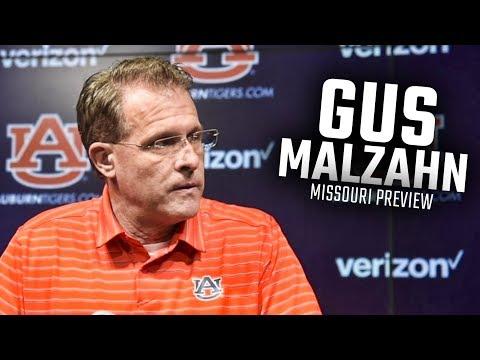 Auburn head coach Gus Malzahn discusses QB situation, previews Missouri