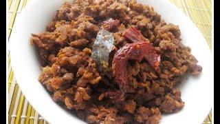 Muthira Mezhukkupuratti (Horse Gram Stir Fry)- chinnuz' I Love My Kerala Food