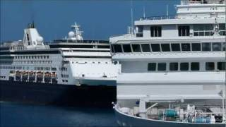 Cruise Ships in Aruba: Ocean Dream, Horizon, Stadendam and Silver Explorer