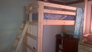 How To Build A Loft Bed - Diy Build And Assembly - Detailed Slide Show