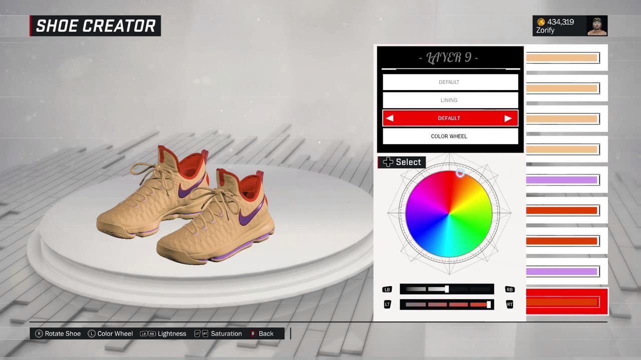 NBA 2K17 Shoe Creator - Nike KD 9 Custom