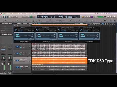 Cassette Test - TDK D60 Type I & SHX 60 Type II