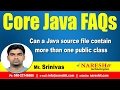 Can a Java source file contain more than one public class | Core Java FAQs Videos