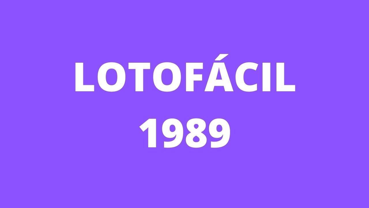 RESULTADO LOTOFACIL 1989 | Resultado lotofacil conc 1989