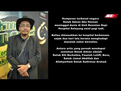 Komposer Adnan Abu Hassan Meninggal Dunia