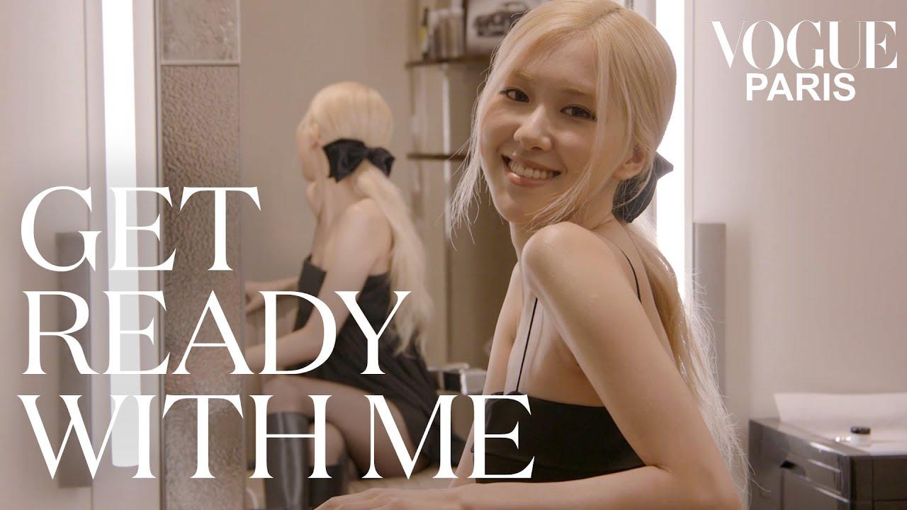 Blackpinks Ros gets ready for the Saint Laurent fashion show  Vogue Paris