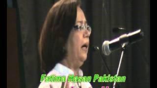 Ankho mai na zulfo na rukhsar mai dekhe  Poetry by Fatima Hasan Karachi Pakistan