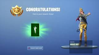 Déverrouillage de l'emote New Peace Out à Fortnite