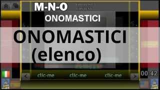 ONOMASTICI (ELENCO) - ONOMASTICA - Santo del giorno - Santo di oggi - calendario - almanacco