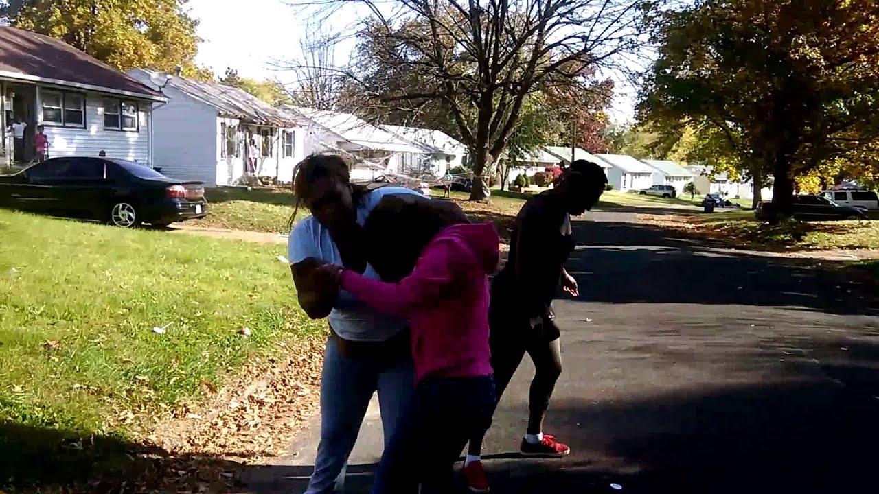 Ghetto fight/brawl in St. Louis North County Stl