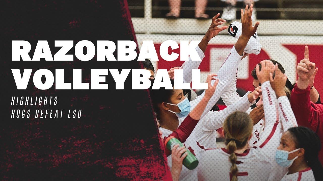 Razorback Volleyball: Highlights, Hogs Defeat LSU