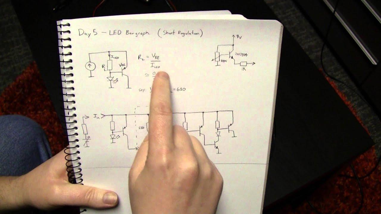 Advent Calendar Of Circuits 2014 Day 5 Led Bar Graph Shunt Tachometer Circuit Youtube Premium