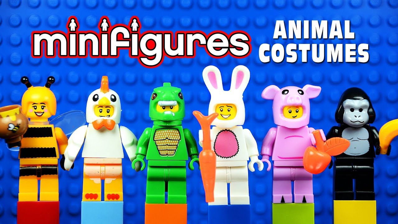 sc 1 st  YouTube & LEGO Minifigures in Animal Costumes KnockOffs (Bootleg) - YouTube