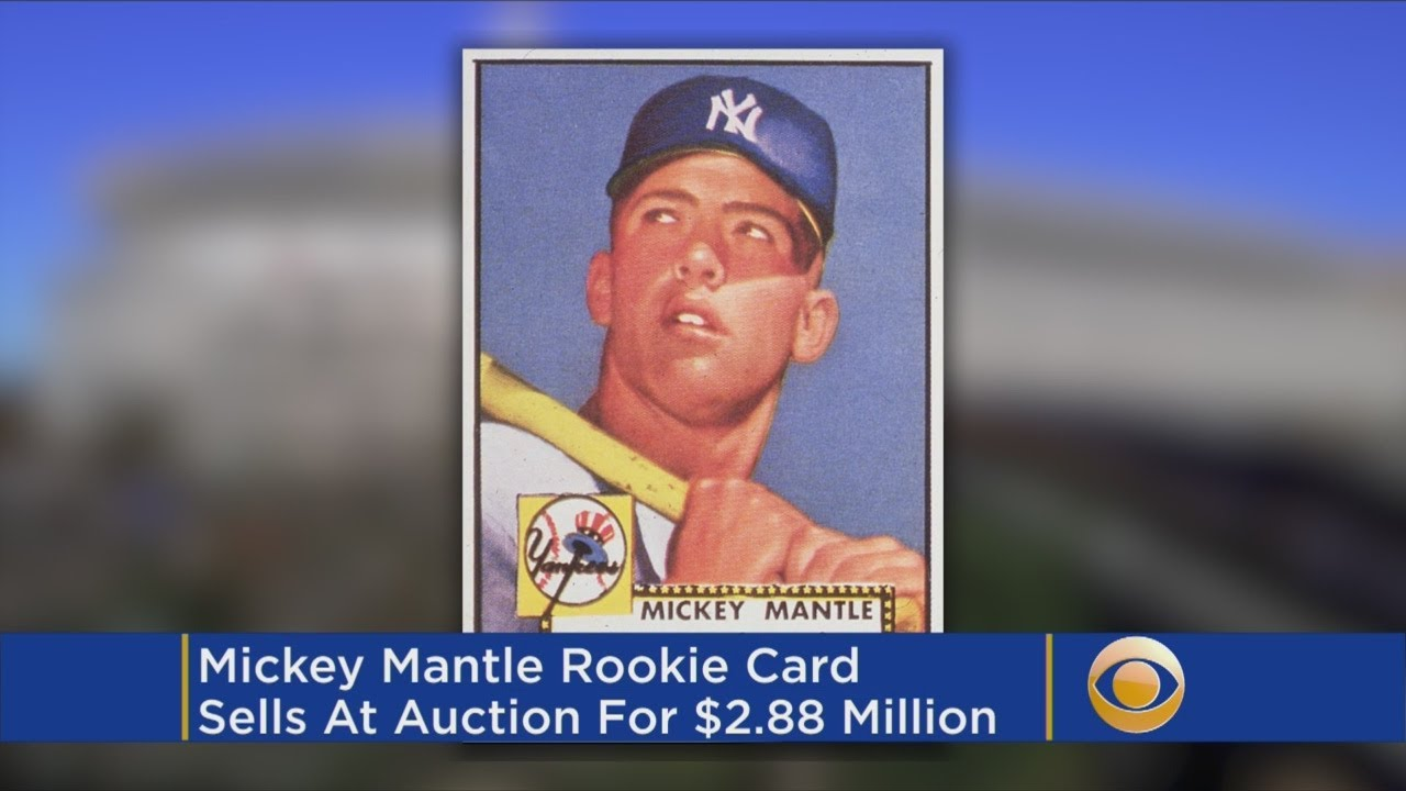 Mickey Mantle Card For Over 2 Million Dollars