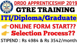 DRDO (GTRE) Apprenticeship 2019 Eligibility & Selection Process.